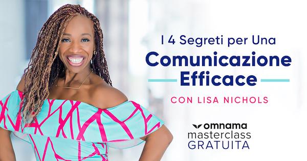 masterclass con Lisa Nichols comunicazione efficace